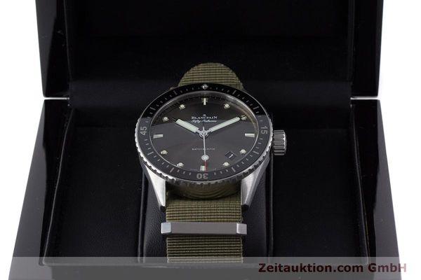 Used luxury watch Blancpain Fifty Fathoms steel automatic Kal. 1315 Ref. 5000-1110-NAKA  | 161472 07