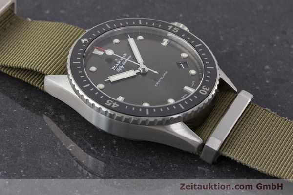 Used luxury watch Blancpain Fifty Fathoms steel automatic Kal. 1315 Ref. 5000-1110-NAKA  | 161472 15