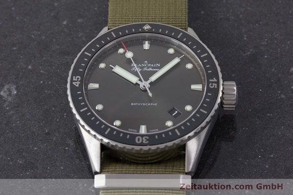 Used luxury watch Blancpain Fifty Fathoms steel automatic Kal. 1315 Ref. 5000-1110-NAKA  | 161472 16