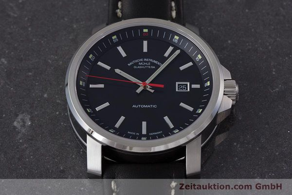 Used luxury watch Mühle 29er Big steel automatic Kal. ETA 2824-2 Ref. M1-25-30  | 161476 16