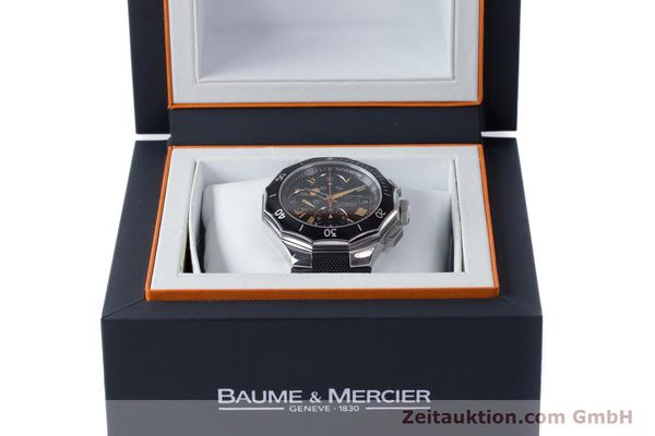 Used luxury watch Baume & Mercier Riviera chronograph steel automatic Kal. ETA 7750 Ref. 65638  | 161477 07