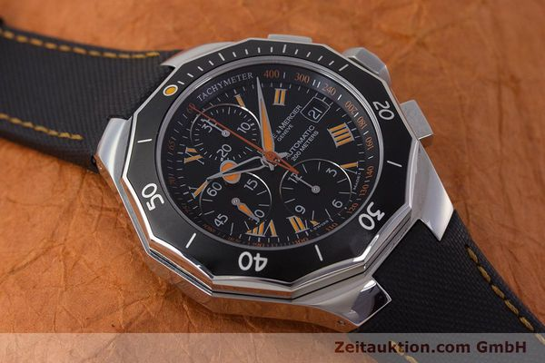 Used luxury watch Baume & Mercier Riviera chronograph steel automatic Kal. ETA 7750 Ref. 65638  | 161477 15