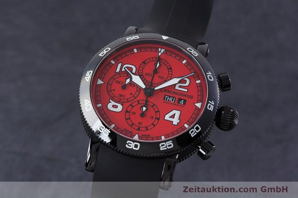 CHRONOSWISS TIMEMASTER CHRONOGRAPHE ACIER AUTOMATIQUE KAL. SELLITA SW500 LP: 5650EUR [161481]