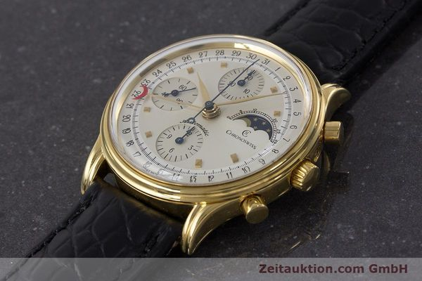 Used luxury watch Chronoswiss A. Rochat chronograph gold-plated automatic Kal. Val 7750 Ref. 77990  | 161482 01