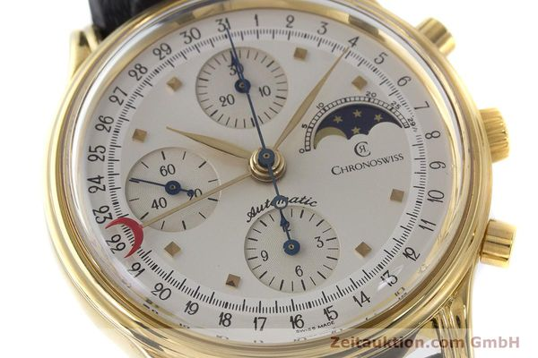 Used luxury watch Chronoswiss A. Rochat chronograph gold-plated automatic Kal. Val 7750 Ref. 77990  | 161482 02