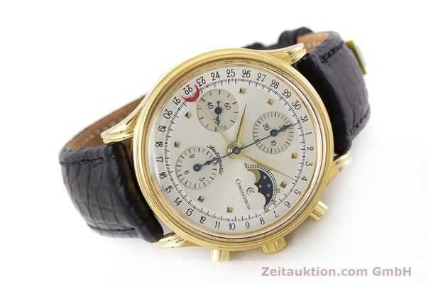 Used luxury watch Chronoswiss A. Rochat chronograph gold-plated automatic Kal. Val 7750 Ref. 77990  | 161482 03