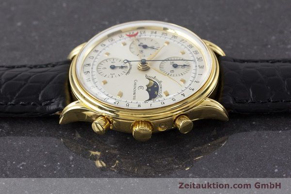 Used luxury watch Chronoswiss A. Rochat chronograph gold-plated automatic Kal. Val 7750 Ref. 77990  | 161482 05