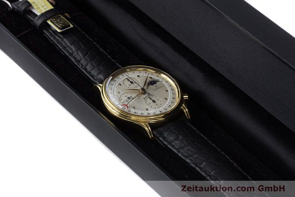 Used luxury watch Chronoswiss A. Rochat chronograph gold-plated automatic Kal. Val 7750 Ref. 77990  | 161482 07