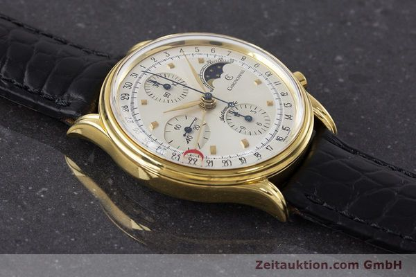 Used luxury watch Chronoswiss A. Rochat chronograph gold-plated automatic Kal. Val 7750 Ref. 77990  | 161482 12