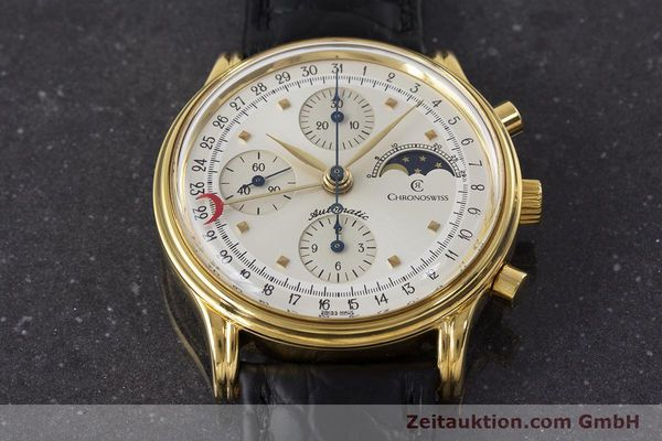 Used luxury watch Chronoswiss A. Rochat chronograph gold-plated automatic Kal. Val 7750 Ref. 77990  | 161482 13