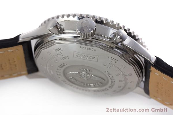 Used luxury watch Breitling Navitimer chronograph steel automatic Kal. B23 ETA 7753 Ref. A23322  | 161485 08