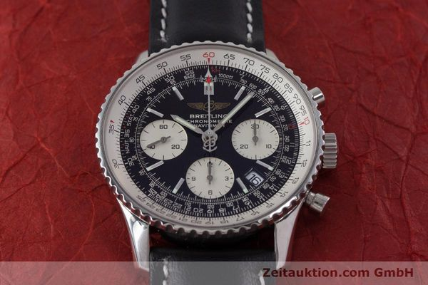 Used luxury watch Breitling Navitimer chronograph steel automatic Kal. B23 ETA 7753 Ref. A23322  | 161485 13