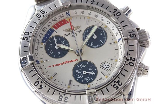 Used luxury watch Breitling Transocean chronograph steel quartz Kal. B53 ETA 251262 Ref. A53040.1  | 161494 02