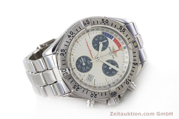 Used luxury watch Breitling Transocean chronograph steel quartz Kal. B53 ETA 251262 Ref. A53040.1  | 161494 03