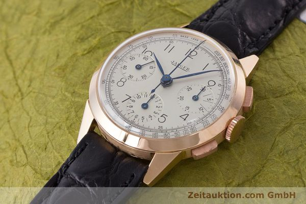 Used luxury watch Jaeger Le Coultre * chronograph 18 ct red gold manual winding Kal. 285 Ref. 124103 VINTAGE  | 161497 01