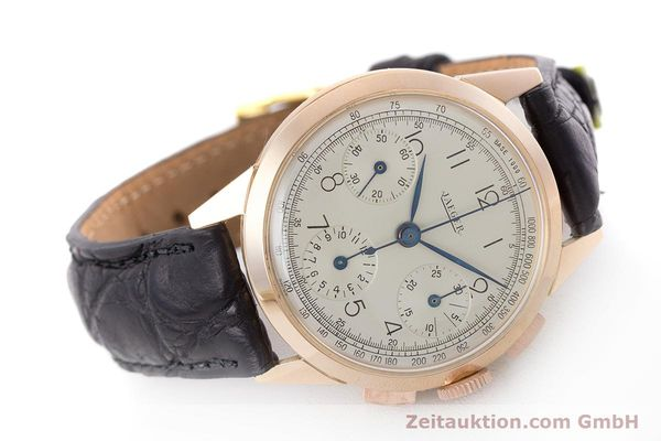 Used luxury watch Jaeger Le Coultre * chronograph 18 ct red gold manual winding Kal. 285 Ref. 124103 VINTAGE  | 161497 03