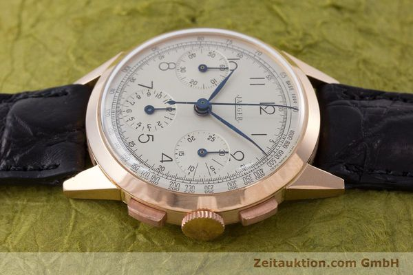 Used luxury watch Jaeger Le Coultre * chronograph 18 ct red gold manual winding Kal. 285 Ref. 124103 VINTAGE  | 161497 05