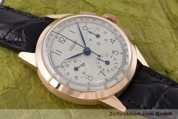 Used luxury watch Jaeger Le Coultre * chronograph 18 ct red gold manual winding Kal. 285 Ref. 124103 VINTAGE  | 161497 13