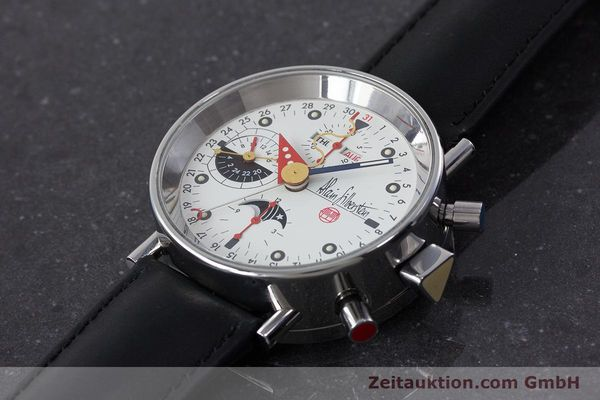 Used luxury watch Alain Silberstein Krono Bauhaus chronograph steel automatic Kal. ETA 7751  | 161503 01