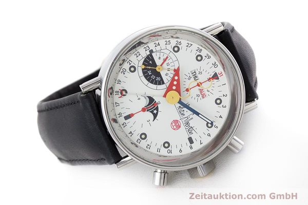 Used luxury watch Alain Silberstein Krono Bauhaus chronograph steel automatic Kal. ETA 7751  | 161503 03