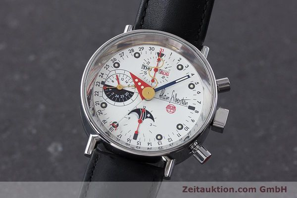 Used luxury watch Alain Silberstein Krono Bauhaus chronograph steel automatic Kal. ETA 7751  | 161503 04