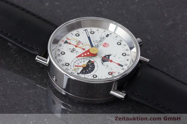 Used luxury watch Alain Silberstein Krono Bauhaus chronograph steel automatic Kal. ETA 7751  | 161503 14