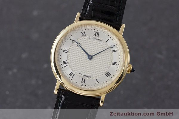 BREGUET 18K GOLD CLASSIQUE AUTOMATIQUE AUTOMATIK MEDIUM 2346 VP: 19700,- EURO [161526]