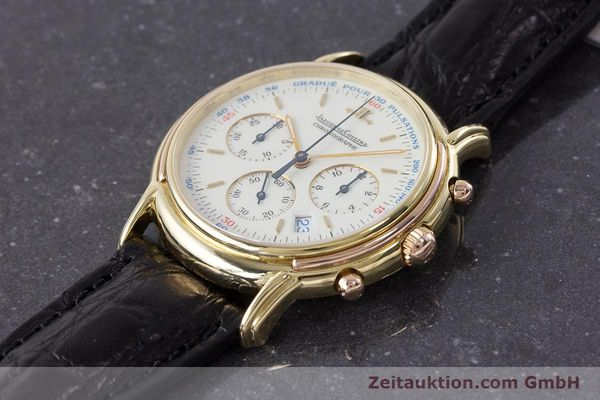 Used luxury watch Jaeger Le Coultre Odysseus chronograph 18 ct gold quartz Kal. 630 Ref. 165.73  | 161527 01