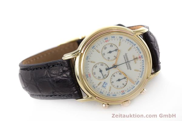 Used luxury watch Jaeger Le Coultre Odysseus chronograph 18 ct gold quartz Kal. 630 Ref. 165.73  | 161527 03