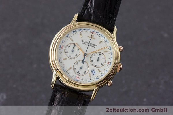 Used luxury watch Jaeger Le Coultre Odysseus chronograph 18 ct gold quartz Kal. 630 Ref. 165.73  | 161527 04