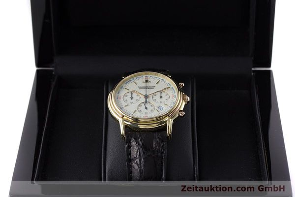 Used luxury watch Jaeger Le Coultre Odysseus chronograph 18 ct gold quartz Kal. 630 Ref. 165.73  | 161527 07