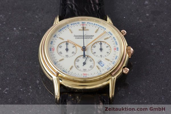 Used luxury watch Jaeger Le Coultre Odysseus chronograph 18 ct gold quartz Kal. 630 Ref. 165.73  | 161527 14