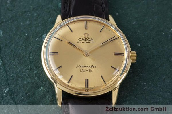 Used luxury watch Omega Seamaster 18 ct gold automatic Kal. 552 Ref. 165.001 VINTAGE  | 161535 14
