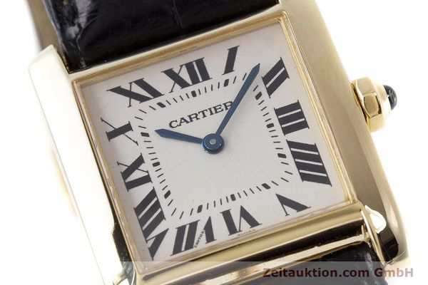 Used luxury watch Cartier Tank 18 ct gold quartz Kal. 157 Ref. 1821  | 161538 02
