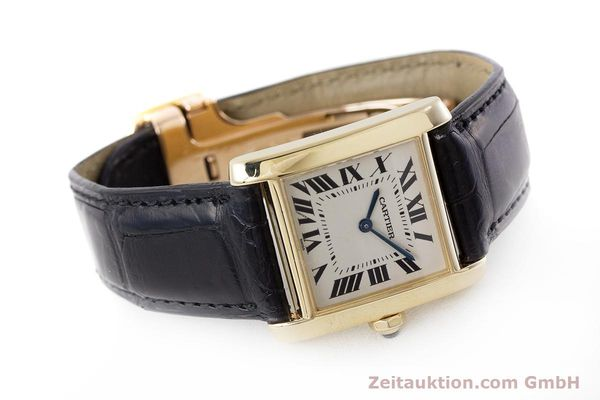 Used luxury watch Cartier Tank 18 ct gold quartz Kal. 157 Ref. 1821  | 161538 03