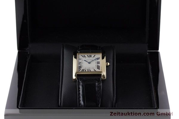 Used luxury watch Cartier Tank 18 ct gold quartz Kal. 157 Ref. 1821  | 161538 07