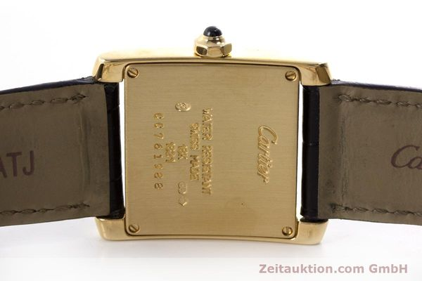 Used luxury watch Cartier Tank 18 ct gold quartz Kal. 157 Ref. 1821  | 161538 09