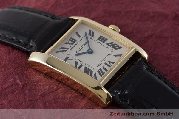 Used luxury watch Cartier Tank 18 ct gold quartz Kal. 157 Ref. 1821  | 161538 13
