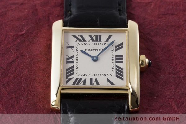 Used luxury watch Cartier Tank 18 ct gold quartz Kal. 157 Ref. 1821  | 161538 14