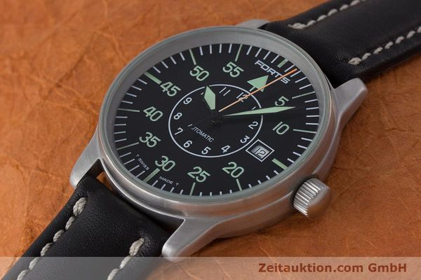 Used luxury watch Fortis Flieger steel automatic Kal. ETA 2824-2 Ref. 595.10.46  | 161543 01