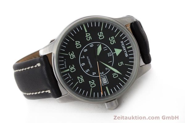 Used luxury watch Fortis Flieger steel automatic Kal. ETA 2824-2 Ref. 595.10.46  | 161543 03