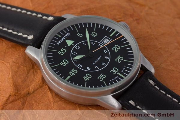 Used luxury watch Fortis Flieger steel automatic Kal. ETA 2824-2 Ref. 595.10.46  | 161543 13
