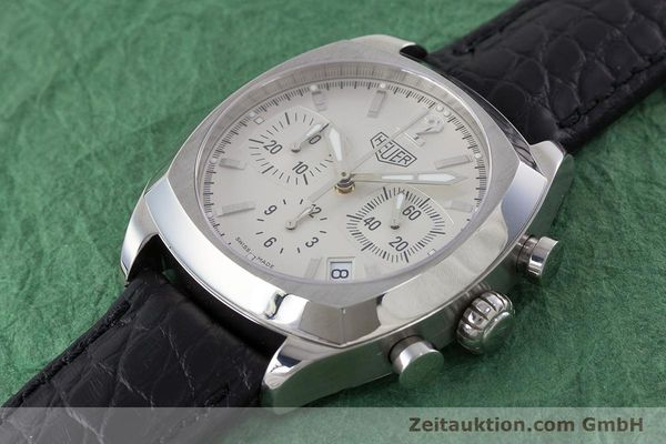 Used luxury watch Tag Heuer Monza chronograph steel automatic Kal. ETA 2894-2 Ref. CR2111  | 161557 01
