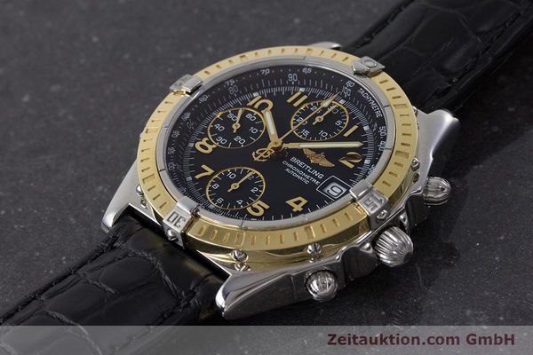 Used luxury watch Breitling Chronomat chronograph steel / gold automatic Kal. B13 ETA 7750 Ref. D13352  | 161560 01
