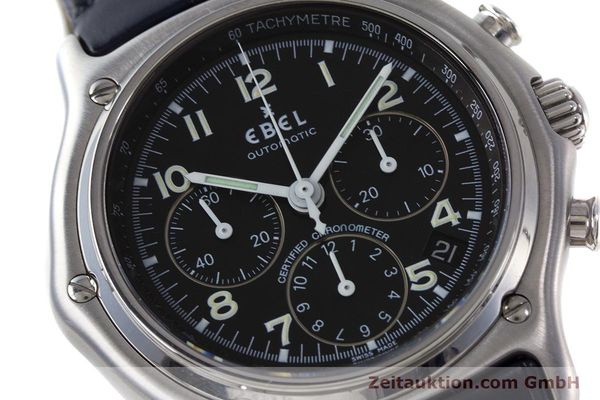 Used luxury watch Ebel 1911 chronograph steel automatic Kal. 137 Ref. E9137240  | 161568 02