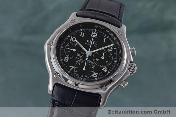 Used luxury watch Ebel 1911 chronograph steel automatic Kal. 137 Ref. E9137240  | 161568 04