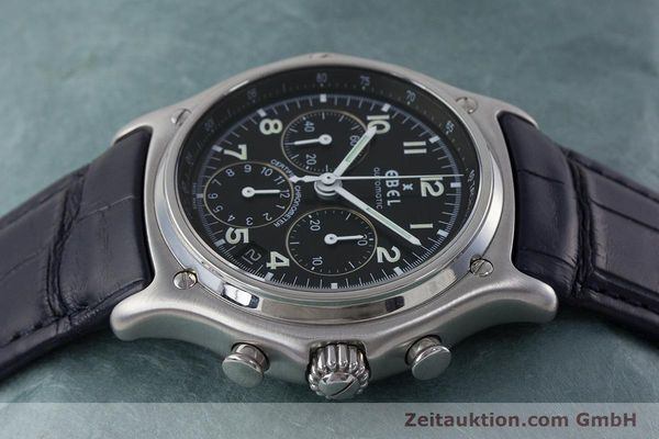 Used luxury watch Ebel 1911 chronograph steel automatic Kal. 137 Ref. E9137240  | 161568 05