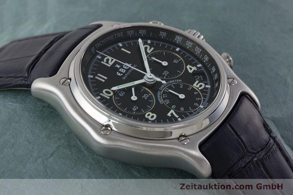 Used luxury watch Ebel 1911 chronograph steel automatic Kal. 137 Ref. E9137240  | 161568 14