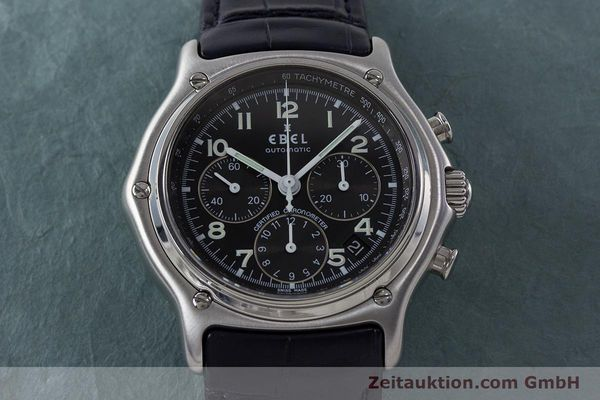 Used luxury watch Ebel 1911 chronograph steel automatic Kal. 137 Ref. E9137240  | 161568 15