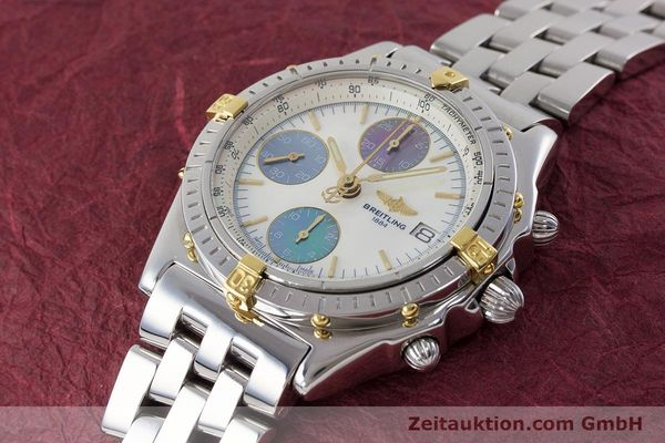Used luxury watch Breitling Chronomat chronograph steel automatic Kal. B13 ETA 7750 Ref. D13050.1  | 161569 01